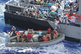 Refugees in the Mediterranean - photo/U.S. Navy