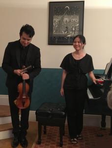 Suliman Tekalli (violin), Mika Sasaki (piano)